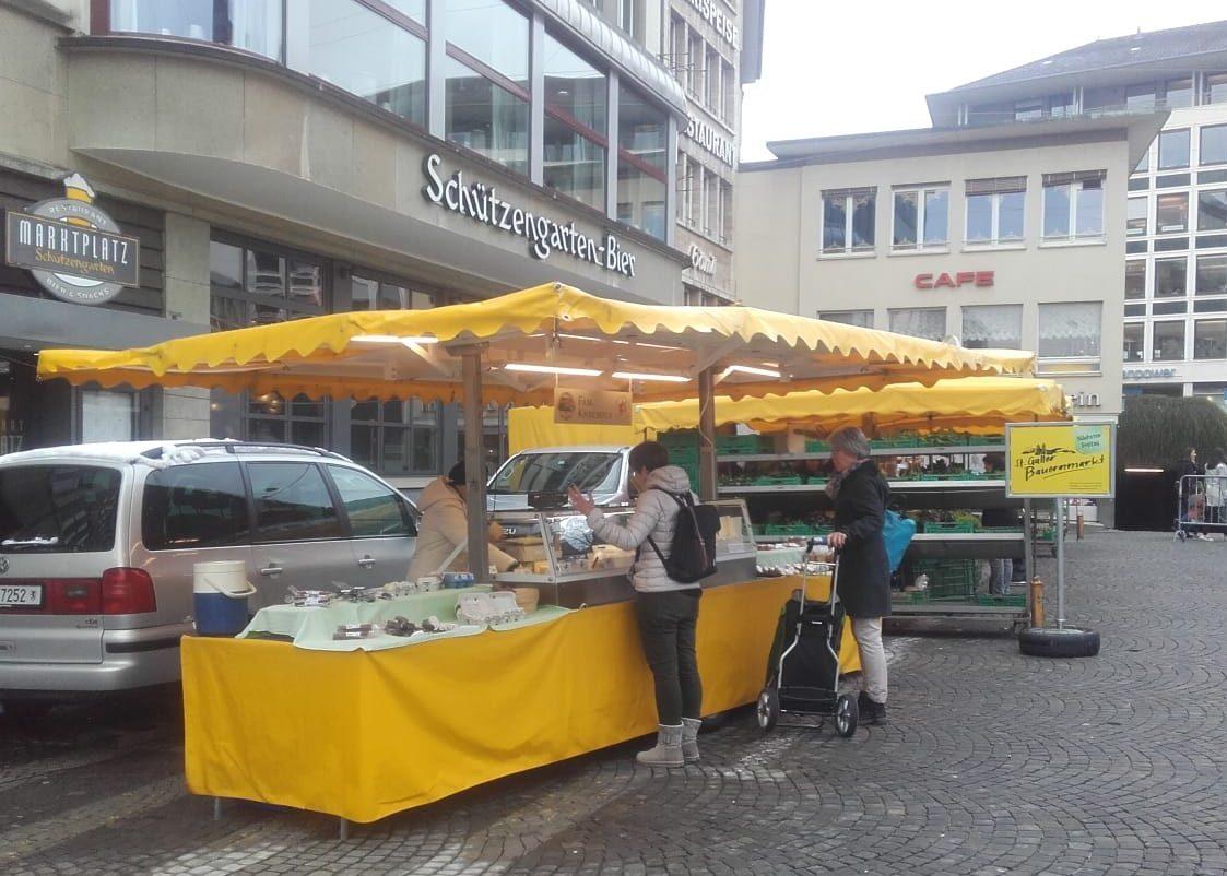 Neuer Standort auf dem St Galler Bauernmarkt